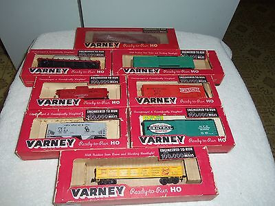 VARNEY HO SCALE TRAINS RAILROAD LOT OF 8 BOXED on Rummage