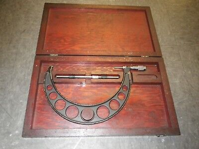 Browne Sharpe 8 - 9 Outside Micrometer Set Complete Wit 8 Rod And Wood Case
