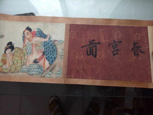 ancient Japan painting shunga artistic erotic viusal painting scrolls N2