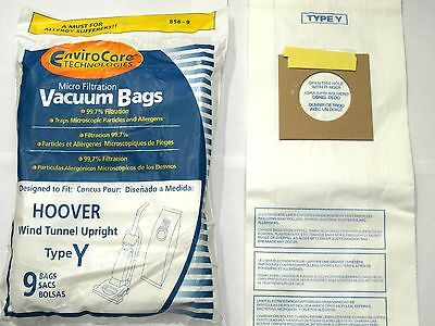 Hoover WindTunnel Upright Type Y Vacuum Bags Microfiltration with Closure - 9 Pk
