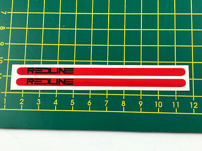old school bmx decals stickers redline FLIGHT crank red on bright green