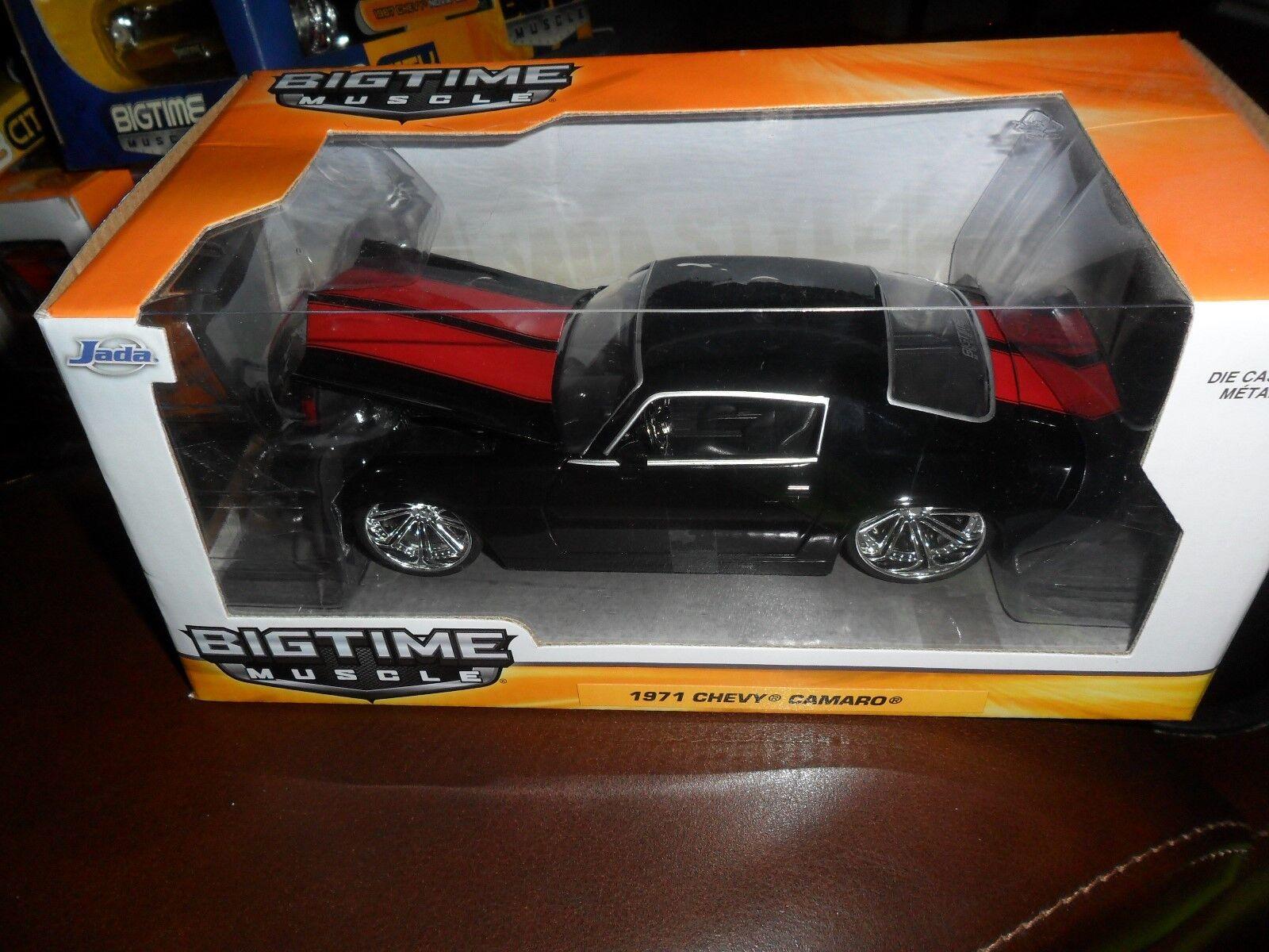 1 24 jada 1971 chevy camaro black