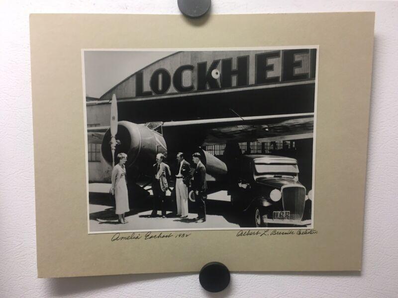 Vintage 1932 AMELIA EARHART /LOCKHEED PHOTO SIGNED BY ALBERT L. BRESNIK