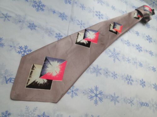 VTG 40s DECO ANTIQUE TIE #122