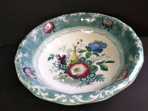George Wooliscroft Antique Transferware Ironstone  Bowl Excelsior 14