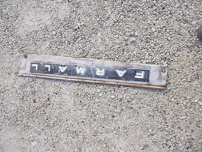 Farmall Ih 504 Tractor Main Right Engine Motor Front Side Cover Panel Emblem