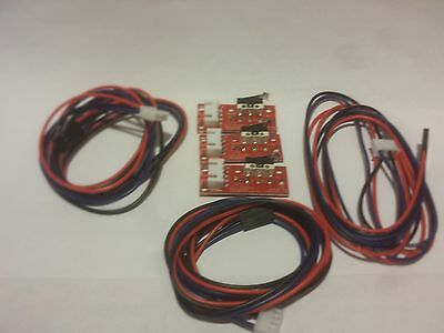 Reprap 3 Pcs Mechanical Endstop Switch W Wires For 3d Printer Cnc End Stop