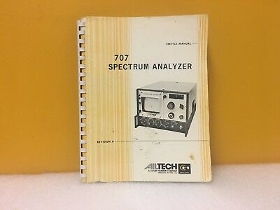 Ailtech 707 Spectrum Analyzer Revision A Service Manual