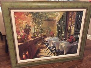 """""""The ivy inn"""" canvas painting with solid frame."""