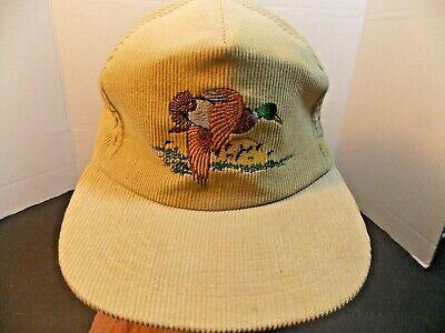 Yupoong 80s Ducks Hunting Outdoor Corduroy Tan Tint Snapback Hat Cap