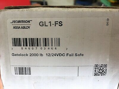 Securitron Gl1-fs Electromechanical Gate Lock Heavy Duty Standard Fail Safe