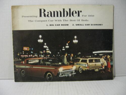 1959 AMC Rambler Rebel Ambassador Car Dealer Sales Brochure Catalog
