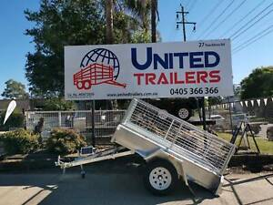 7x4 SINGLE HOT GALVANISED TILTING BOX TRAILER wit CAGE Penrith Penrith Area Preview