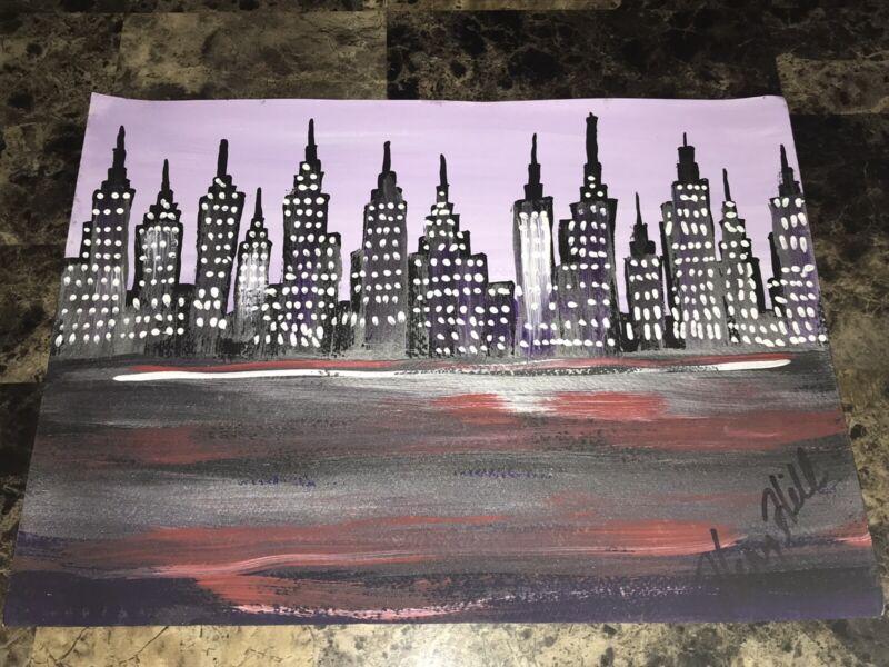 Henry Hill Gangster Mobster Rare Original Painted & Signed Artwork Goodfellas