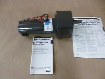 Dayton 6ml60 Dc 14 Hp. Gearmotor 180vdc 250 Rpm Parallel Shaft Output