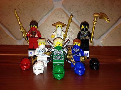 6x Lego® Ninjago™ Figuren Figur Ninja Sensei Wu Kai Jay Cole Zane Lloyd™ NEU