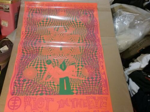 PSYCHIC TV 1987 UK ELECTRIC BALLROOM DAYGLO POSTER NMINT RARE CLEAN HTF VTG!