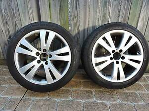 "2 x Genuine Mercedes C Class Wheels 17"" with Continental Tyres Eight Mile Plains Brisbane South West Preview"