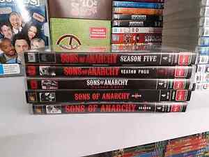 Sons of Anarcy S1-S5 DVDs. Excellent condition Craigmore Playford Area Preview
