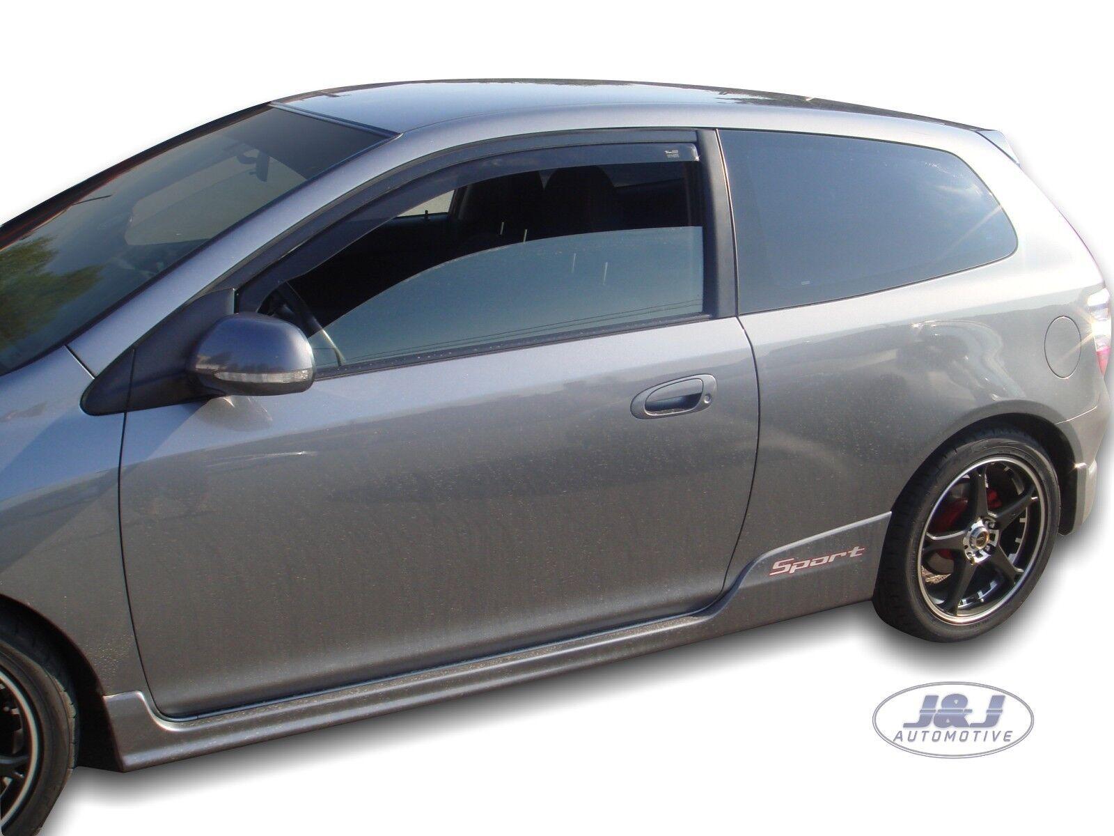 HONDA CIVIC mk7 5-doors Hatchback 2001-2005 4-pc Wind Deflectors HEKO Tinted
