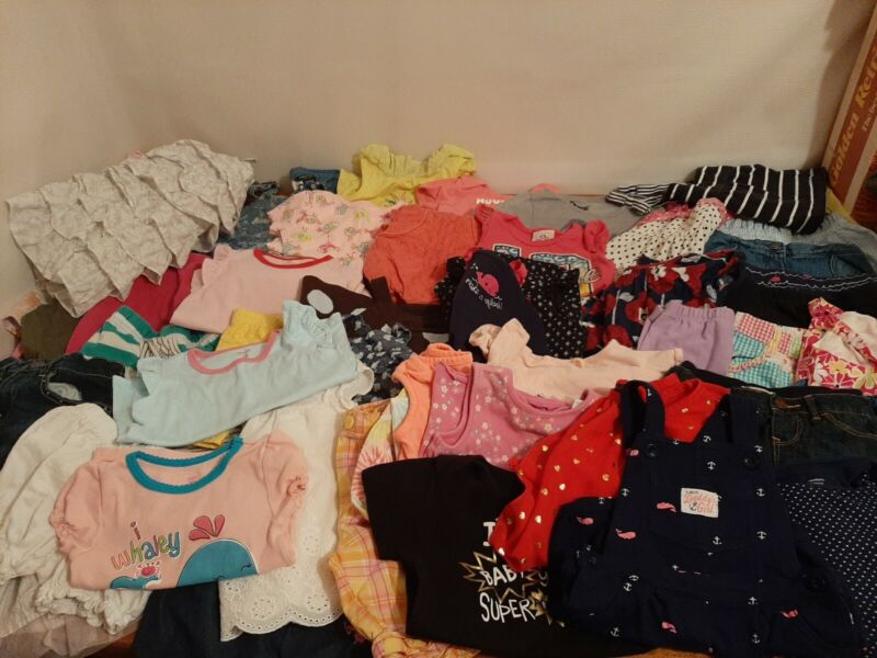 Lot Of 52,18 Month Toddler Girl Clothes,  Spring,  Summer,