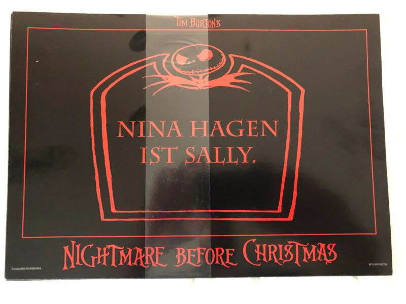 Nightmare before Christmas Sealed Lobby or Promotion Card Set Rare (8.25x11.5)