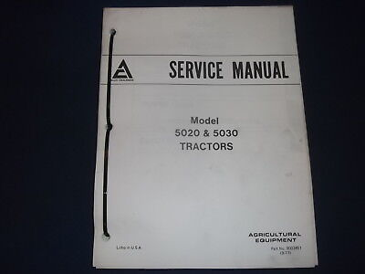 Allis Chalmers 5020 5030 Tractor Service Shop Repair Workshop Manual