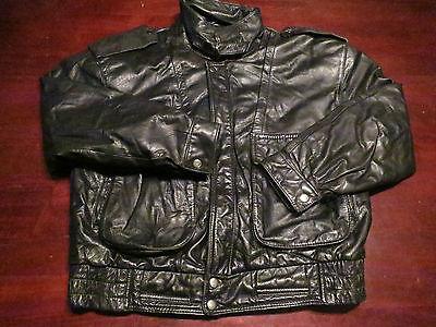 Vtg Mens G-III G3 Leather Jacket Coat Medium Flight Bomber Motorcycle Military