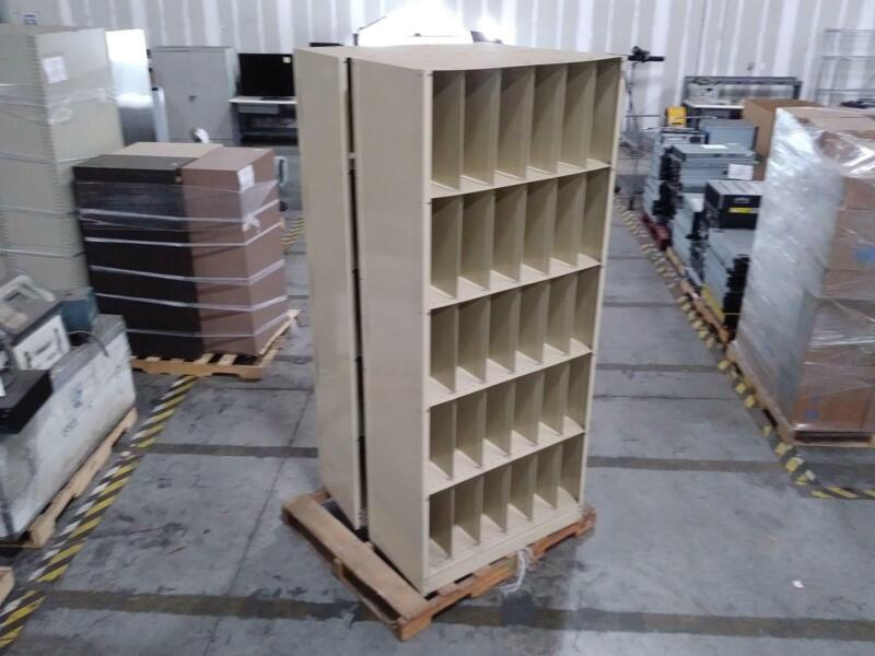 Techno-Aide Modular 30-Cubby Metal Storage Shelf ***LOCAL PICKUP ONLY***