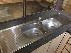 Double Kitchen Sink inc Tap Redcliffe Belmont Area Preview