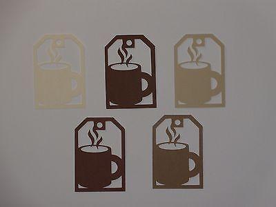 """20 coffee cup tags  2 3/8"""" die cuts"""