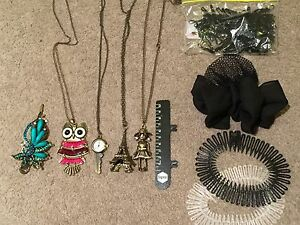 Ladies Accesories Bundle of necklace bracelet hair clips pounch bands Sydney City Inner Sydney Preview