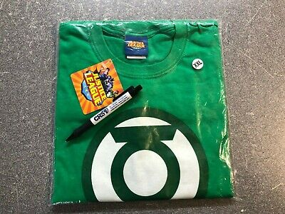 Genuine Justice League Green Lantern Branded T-Shirt GREEN XXL (New sealed Bag)