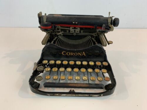 Antique Smith-Corona Portable Folding Typewriter