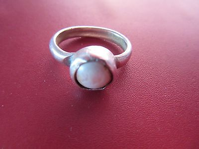 Pearl Ring Sterling Silver 925 SETTING ROUGH/NEEDS CLEANING Toe Midi  Sz 3