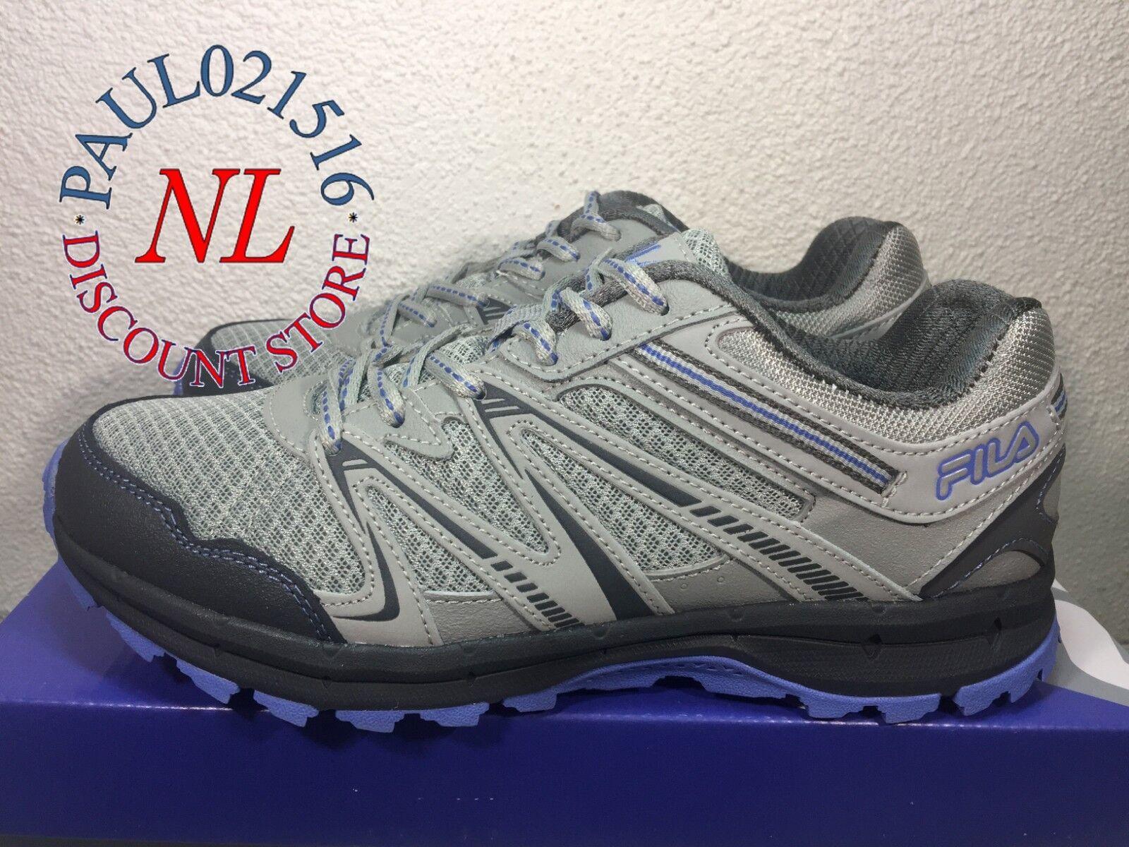 FILA Women's Northampton Grey Trail Running Shoes Sneakers ~