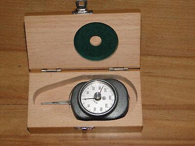 Federwaagen-Kontaktor Dynamometer Zugkraftanzeiger Zugkraftmessgerät bis 250 Gr.