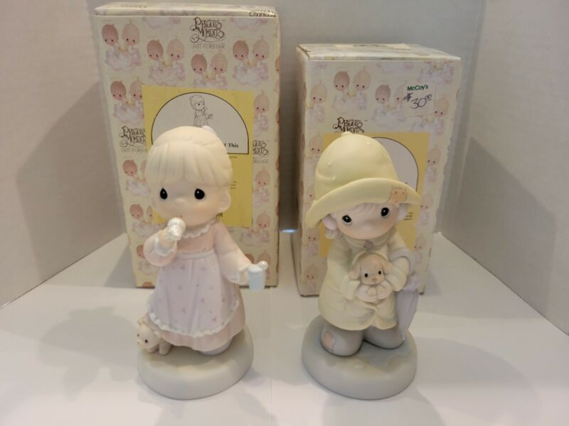 Precious Moments Lot of 2 Special Event Figurines #530158 and #529982