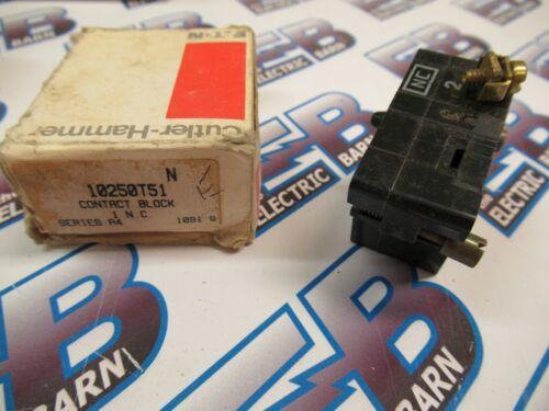 CUTLER HAMMER 10250T51, Series A4, Contact Block, 1 N.C.- NEW-B
