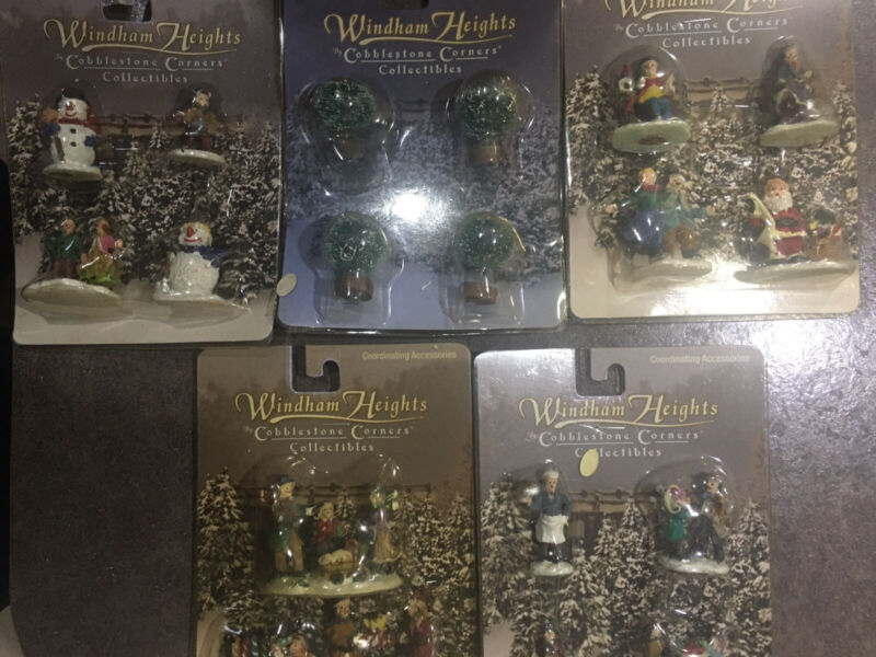 Windham Heights Cobblestone Corners Vintage Christmas / Winter Collectibles NOS!