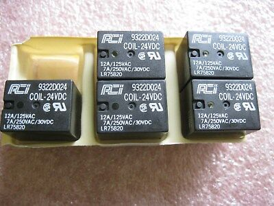 Aci 9322d024 Relay Lot Of 5 105345