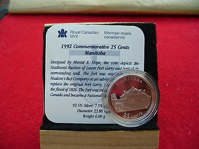 Click now to see the BUY IT NOW Price! 1992   25 CENT   COMMEMORATIVE PROOF QUARTER     MANITOBA