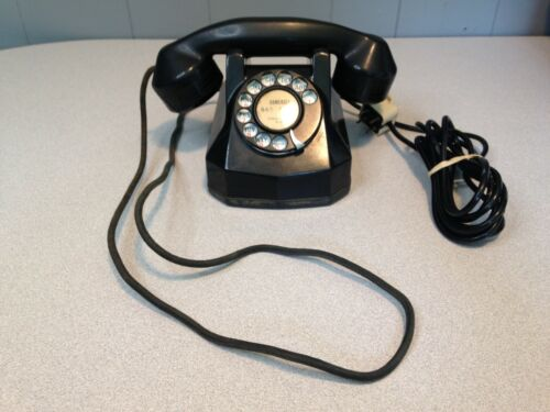 Cute Antique Art Deco Monophone Bakelite Desk Phone, Untested, Free Shipping!