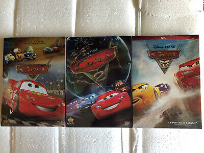 Cars 1-3 DVD Trilogy Movie Bundle USA Brand New DVD