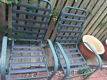 2 X Green aluminum chairs FREE Taringa Brisbane South West Preview
