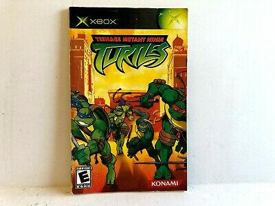 Teenage Mutant Ninja Turtles Original Xbox TORN MANUAL ONLY Authentic