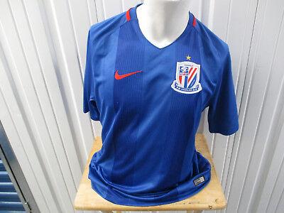 VINTAGE NIKE Shanghai Greenland Shenhua FC SEWN 2016/17 XL JERSEY PREOWNED CHINA image