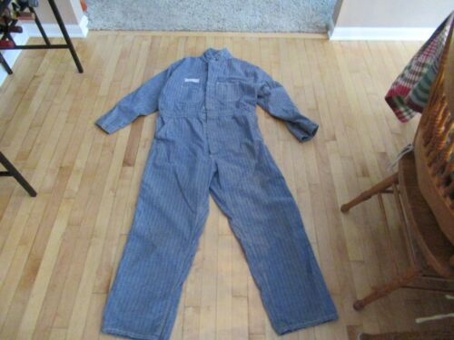 Vintage Cleveland Work Wear HBT Denim Coveralls Mens 48 Jump Suit Overalls