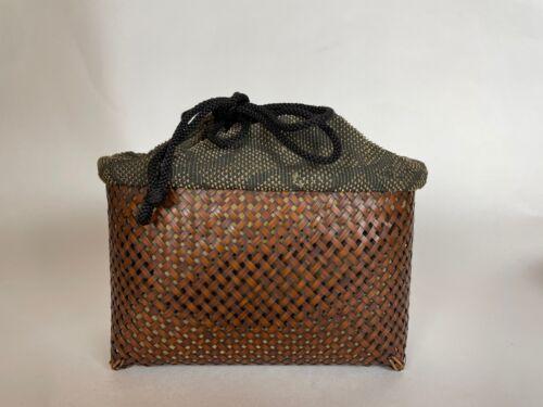 Japanese Antique Chabako Tea Ceremony Basket (b661)