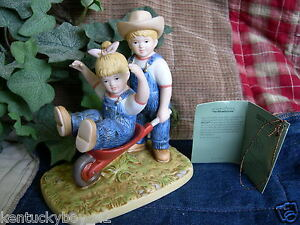 Home Interiors Homco Denim Days The Wheelbarrow Figurine W